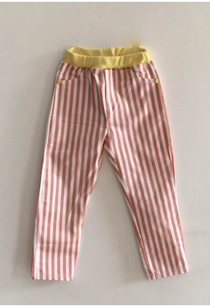 Nautical Striped Pants (in Pink)