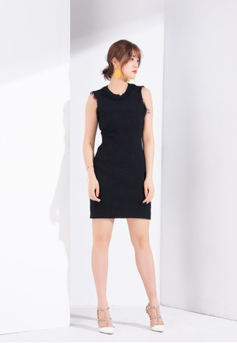 Zafiti black Knitted Sleeveless Dress 391E7AA1358CD7GS_1