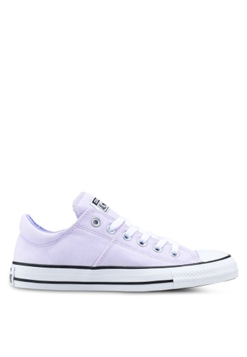 Converse white and purple Chuck Taylor All Star Madison Ultility Chambray Ox Sneakers 852CFSH9753BB4GS_1