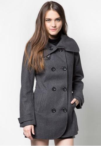 口袋長版毛衣, 服飾,esprit門市地址 夾克 & 大衣