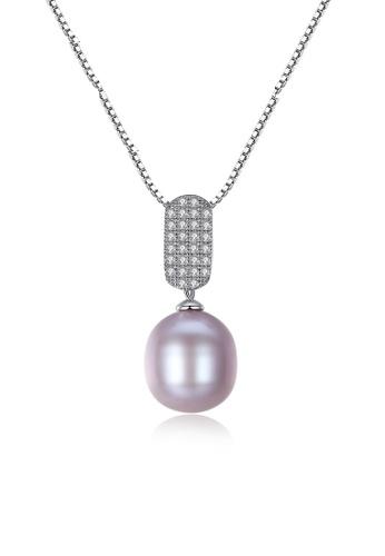 A.Excellence purple Premium Purple Pearl Elegant Necklace 85B56AC970A757GS_1