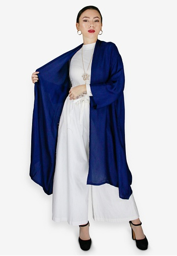 PANGOI blue PANGOI Elegant Short Sleeve Cardigan Surface Embroidery E6357AA1641664GS_1