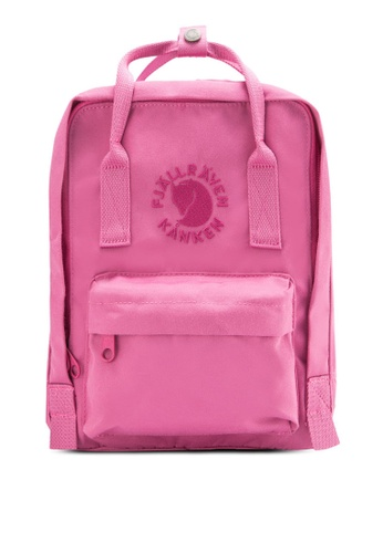 Fjallraven Kanken pink Pink Rose Re-Kanken Mini Backpack FJ382AC87ZNOMY_1