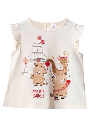 LC Waikiki beige Baby Girl's Printed T-Shirt 70F55KA3B94498GS_1