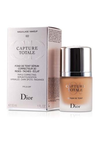 Christian Dior CHRISTIAN DIOR - Capture Totale Triple Correcting Serum Foundation SPF25 - # 022 Cameo 30ml/1oz F067ABEC60DA97GS_1