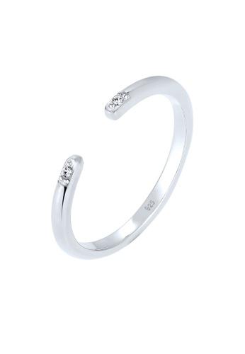 ELLI GERMANY silver Ring Minimal Geo Crystals EL474AC0S201MY_1