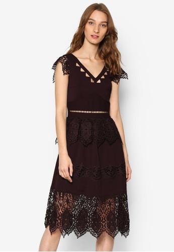 Miss selfridge red lace dress