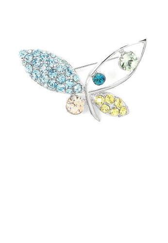 Glamorousky multi Butterfly Brooch with Multi-color Austrian Element Crystals F189FAC0D3E3CEGS_1