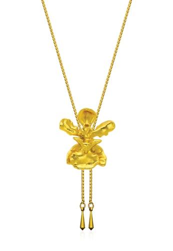 RISIS gold RISIS 24K Gold Plated Natural Oncidium Mary Saporita Orchid Slider E50C3AC2DAF360GS_1