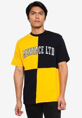 Mennace yellow Quarter Panel T-Shirt EE0B8AA3F19DA8GS_1