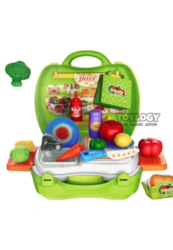 Toylogy green Mainan Masak Masakan Koper Sayuran Buah Wastafel Telenan Alat Dapur 00874TH553BC7CGS_1