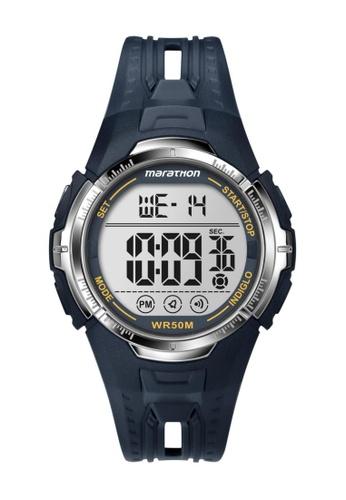 TIMEX black Timex Marathon® - Digital Full-Size Black Resin Strap Watch TI857AC30CQBSG_1