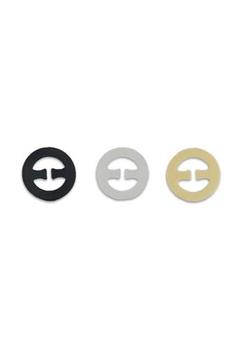 PINK N' PROPER beige Ultimate Anti-Slip Invisible Adjustable Bra Strap Clip (3 Pack) 904ACUS8939331GS_1