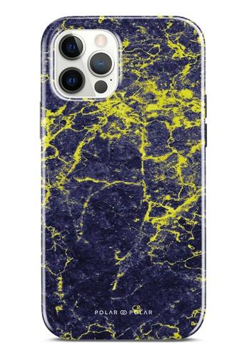 Polar Polar 紫色 紫夜雲石紋雙層光面手機殼 iPhone 12 Pro / iPhone 12 78E7AACAE494B3GS_1