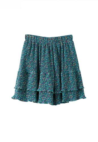 HAPPY FRIDAYS 少女風碎花荷葉邊半身裙JW OF-8021 379F1AA5C5904FGS_1