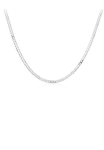 Glamorousky silver Simple Geometric Necklace 3746BAC8EB58C2GS_1