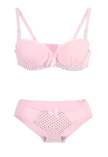 La Dee pink Xera Bra Set 00D90US218DBA1GS_1