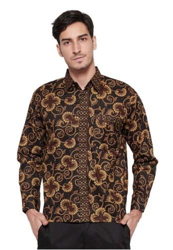 BATIK KENZO brown Guinandra Batik Pria Lengan Panjang 5C55BAA8B4EDCCGS_1