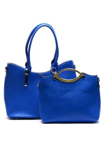 House of Bai blue Ella Europe Top Handle Bag HO716AC59CRCPH_1