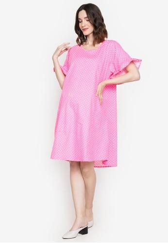 Amelia pink Maternity Raiza Dress 86365AAB33A36BGS_1