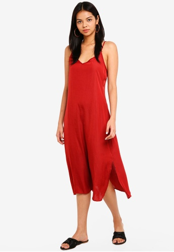 afc1292bb7 Buy Cotton On Woven Satin Midi Dress Online on ZALORA Singapore
