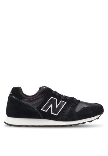 New Balance black 373 Lifestyle Shoes E6F9ASH920E0BAGS_1