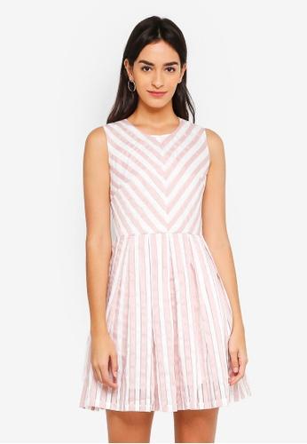 ZALORA multi Chevron Stripe Dress D783BAAA56EF88GS_1