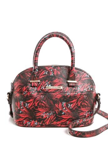 時尚棕欖葉潮流斜背包esprit童裝門市 紅, 包, 斜背包
