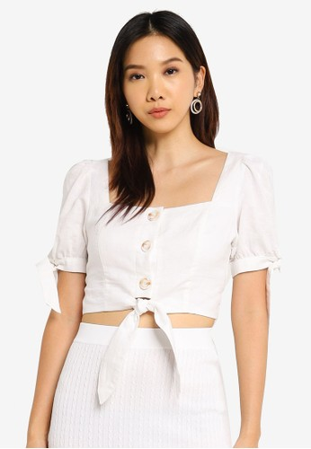 Charlie Holiday white Cleo Top E927CAA3FC513EGS_1