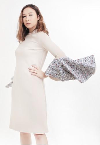 Gi & Ne (Giane) Official beige Neeta Midi Dress 3D964AA4604387GS_1