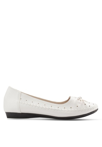 Louis Cuppers white Ribbon Flats LO977SH37XREMY_1