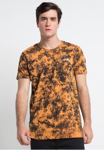 3SECOND orange and multi Men Tshirt 1412 3S395AA0VN50ID_1