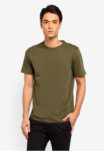 Topman 綠色 Classic Khaki T-Shirt 432A0AAD623127GS_1