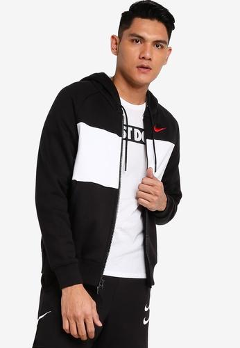 Nike black As M Nsw Nike Air Hoodie Fzflc E9DC4AA74E9D2DGS_1