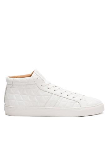 牛皮菱格紋時尚中筒休閒鞋esprit china, 鞋, 休閒鞋