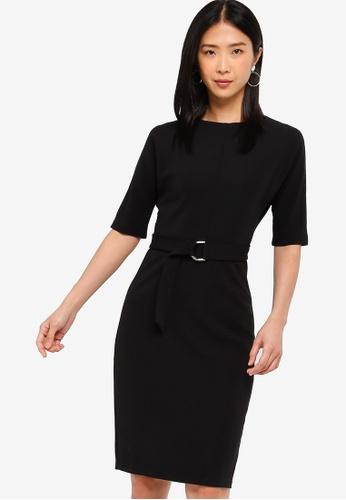 ZALORA BASICS black Basic D-Ring Knee Length Dress C0A52AA0AC3160GS_1