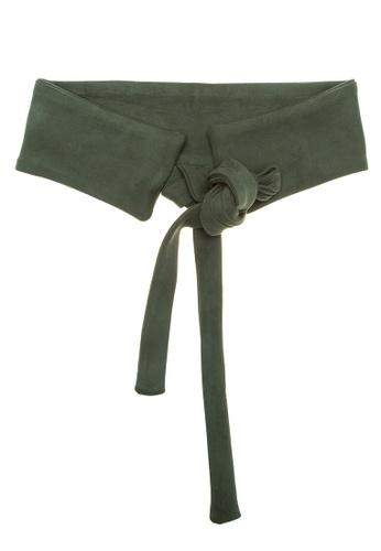 CIGNAL green Cummerband Belt with Tie CI922AC0K13IPH_1