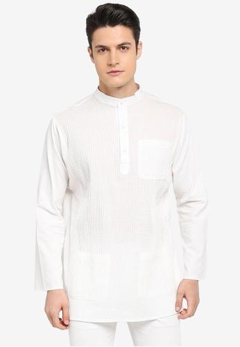 Rizalman for Zalora white Arjuna Top Baju Melayu RI909AA0SF03MY_1