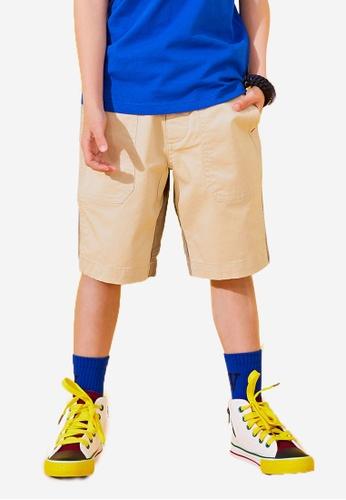 Kingkow beige Cotton Shorts 2.5-12 years 7D947KA8B2B2D3GS_1