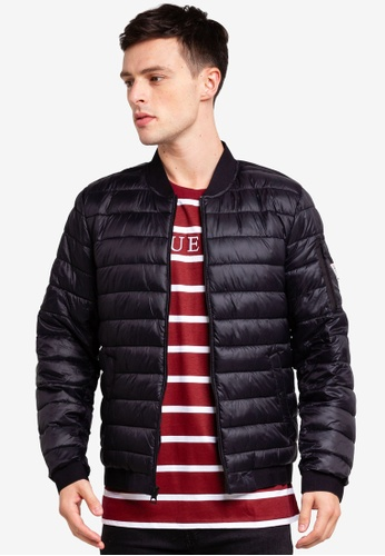Guess 黑色 Guess Quilted Bomber Jacket 55773AA8090C64GS_1