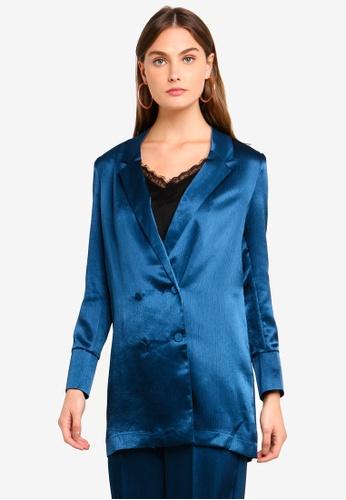 Vero Moda blue Joselyn Shiny Blazer F0FA4AA53CA913GS_1