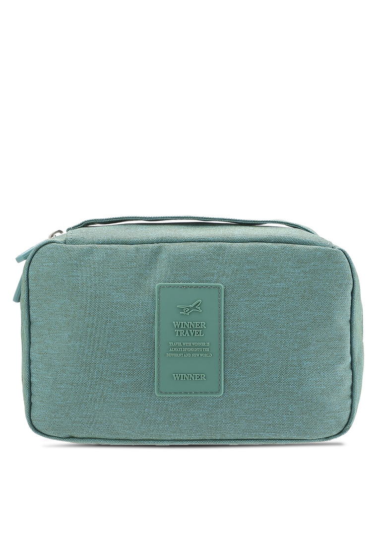 0104dff0b111 Resistant Lightweight Bagstationz Black Pouch Travel Green Water Friday  Toiletries v5AwqZxT5 ...