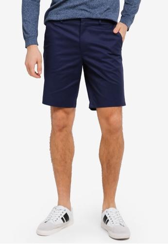 Burton Menswear London 海軍藍色 Chino Shorts BU964AA0SWMCMY_1