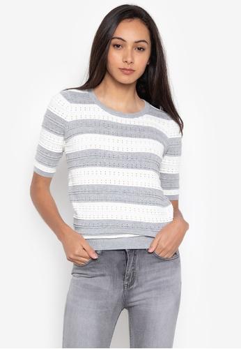 ddcc5cade4533 Shop Kamiseta Short Sleeves Round Neck Knitted Blouse Online on ZALORA  Philippines