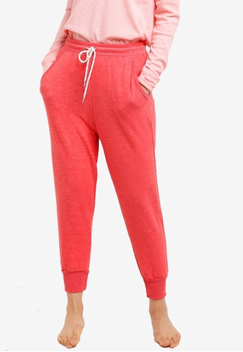 Cotton On Body red Super Soft Cropped Slim Fit Pants A9FE0AA7E4656BGS_1
