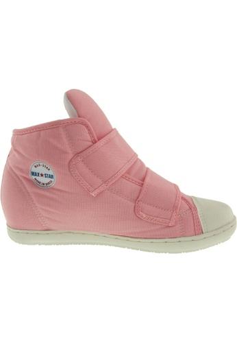 Maxstar pink Maxstar Women's 203 Dual Velcro Hidden Heel Canvas Casual Shoes US Women Size MA164SH49PWGSG_1