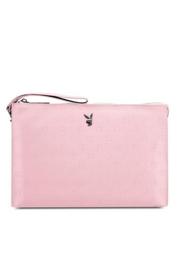 PLAYBOY BUNNY pink Playboy Bunny Clutch Bag A3488AC9F8914FGS_1