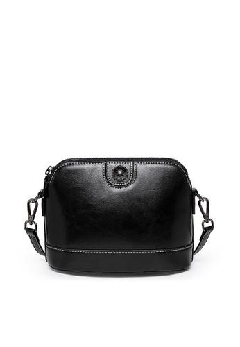Twenty Eight Shoes black VANSA Square Burnished leather Crossbody Bag VBW-Cb7002 B6150AC0732045GS_1