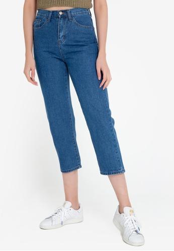 ZALORA BASICS blue Mom Fit Jeans 681B2AA74D03A1GS_1