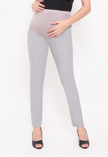 Chantilly grey Maternity Cotton Boot Pants 405E8AAC579F60GS_1